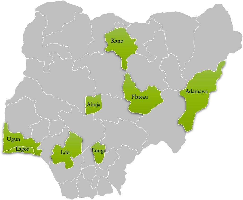 SKYE programme in 8 focal states across the country: Abuja, Lagos, Edo, Ogun, Enugu, Kano, Plateau, and Adamawa.