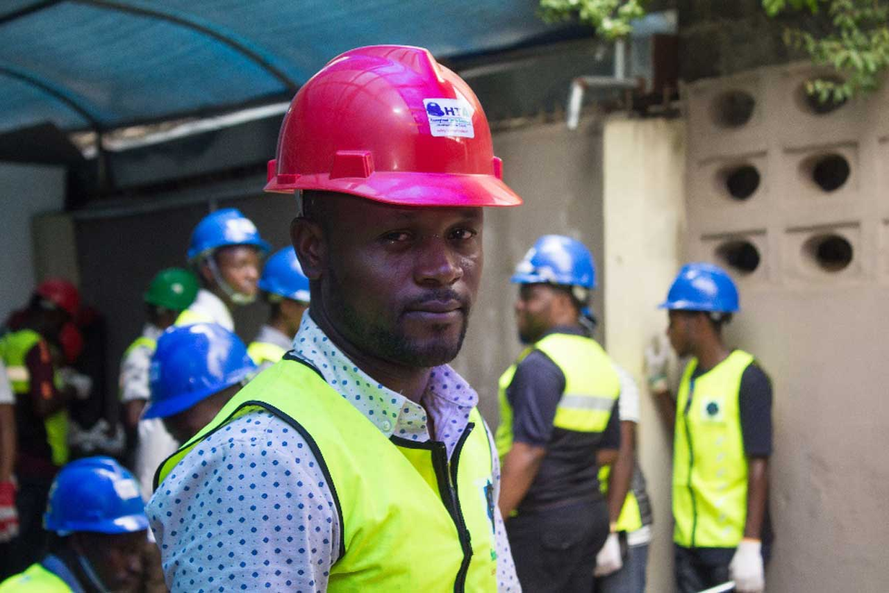Ibrahim Sodiq a graduate of electrical engineering and a Libyan returnee and SKYE electrical beneficiary in Lagos